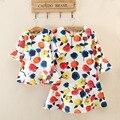 Alta calidad vestido de madre e hija de la familia rose floral del partido de tarde de ropa para niños de la mamá y el bebé girls clothing
