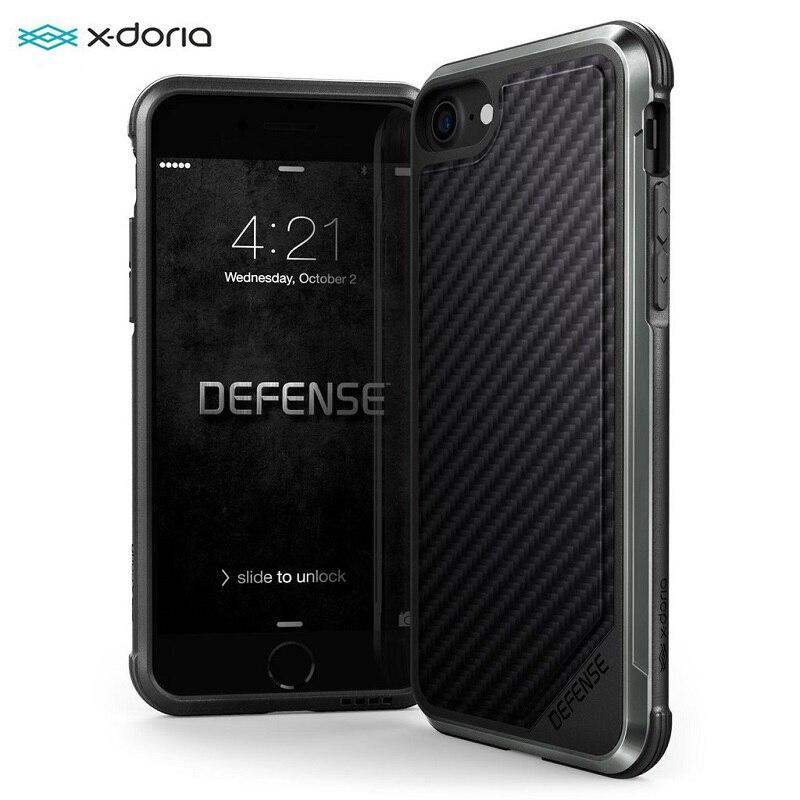 X-Doria Defense Lux Phone Case For IPhone 7 8 Plus Military Grade Drop Protection Aluminum Case For IPhone 7 8 Plus Coque Cover