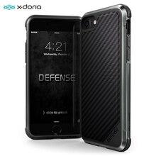 X Doria الدفاع لوكس حافظة هاتف آيفون 7 8 Plus العسكرية الصف قطرة حماية الألومنيوم الحال بالنسبة آيفون 7 8 Plus غطاء Coque