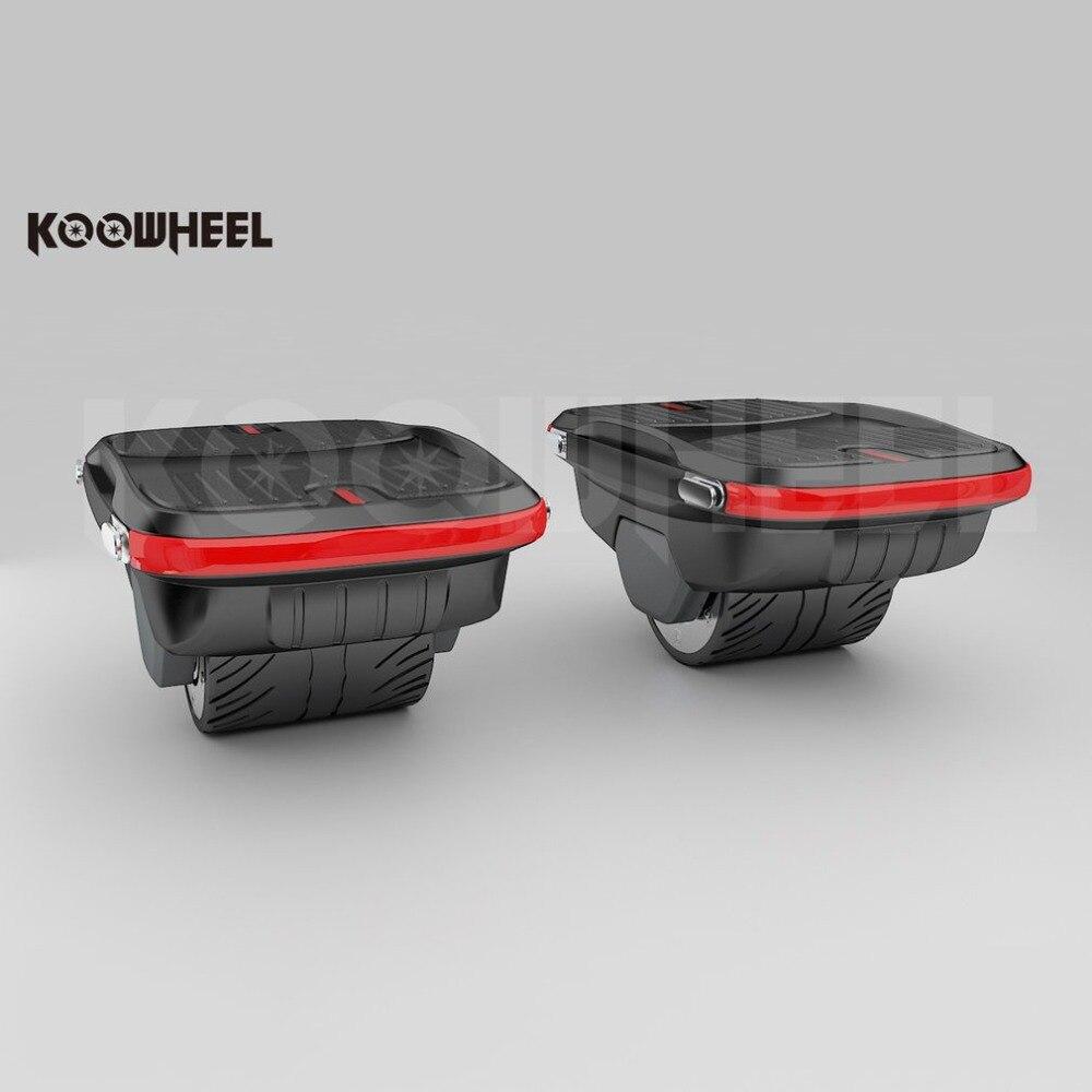 1 paire Koowheel planche à roulettes électrique Hover Board double moteur auto équilibrage Scooter avec un double marchepied à l'extérieur