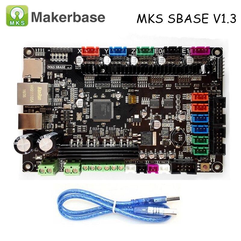 Original 3D Printer Parts Controller Board MKS SBASE V1.3 32-bit Arm platform open source Smoothiebo