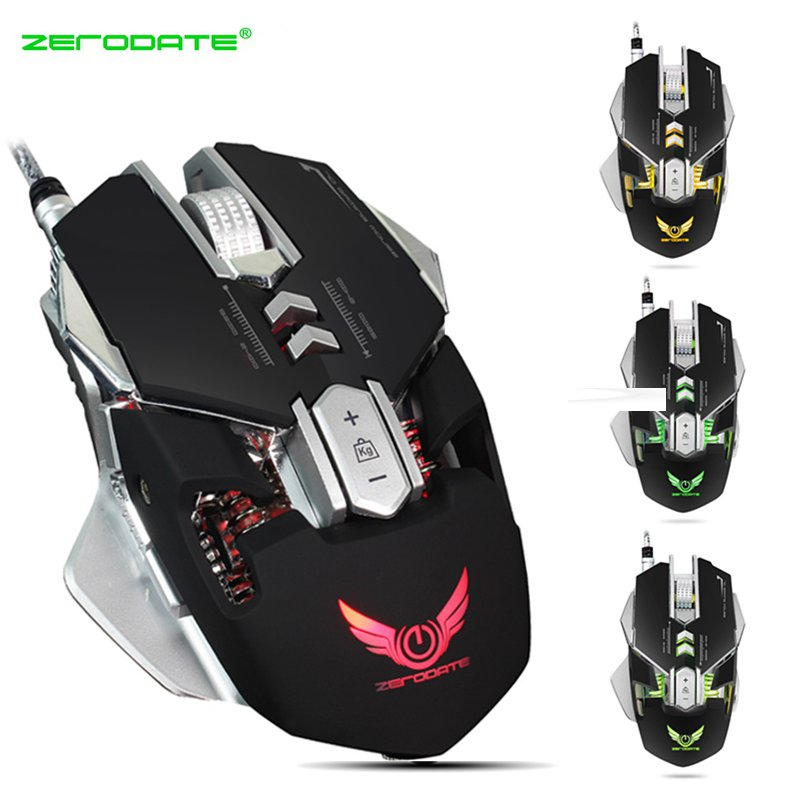 7 Buttons LED Mechanical Mouse Wired 3200DPI USB Optical Mouse Computer Gaming Mouse PC Gamer