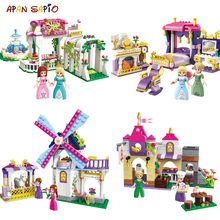 Princess Castle Model Building Blocks Magical Leah Series Educational Creative Bricks Gifts Toys Compatible with Legoe Figures(China)