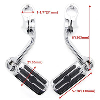 Highway Pegs Foot Rests to fit for 1 1.25 Engine Guard Harley Davidson Road Glide, Electra Glide, Road King, Street Glide