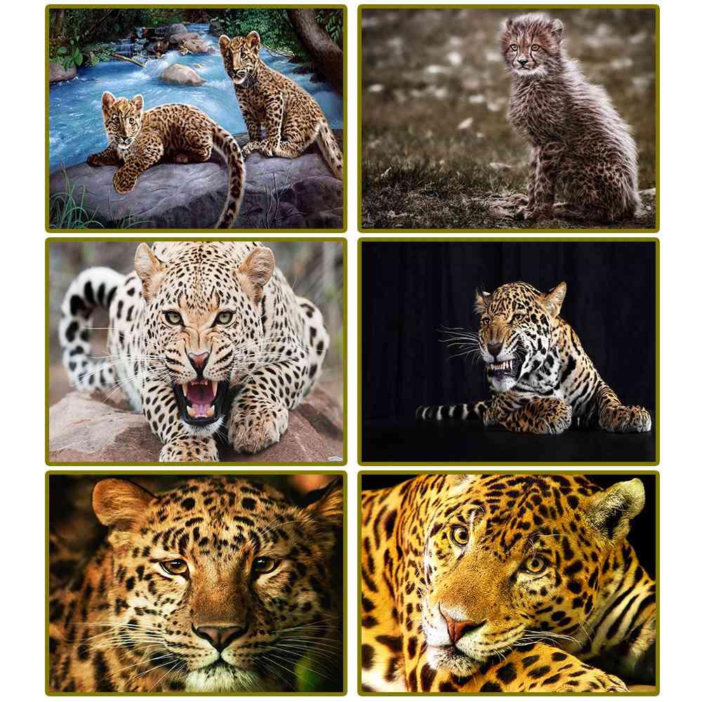 Алмаз живопись, животные, Леопардовый, 5D, полный, квадратный, алмаз вышивка, вышивка крестиком, стразы мозаика, домашний декор, подарок
