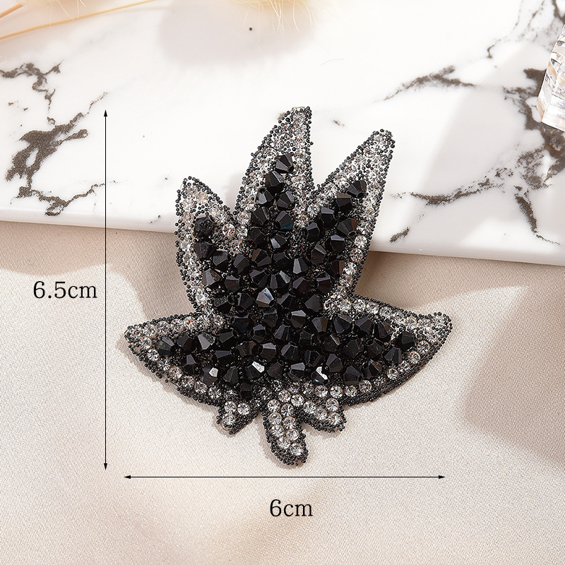 Leaf Hot Diamond Map Glass Leaves European And American Hot Diamond Cloth Affixed Hot Melt Glue Clothing Patch Paste