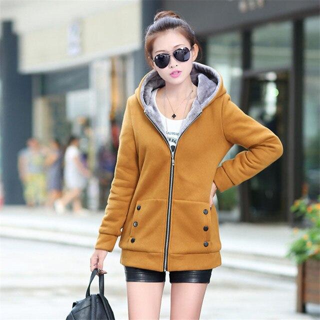 b66531c0f Jackets Spring Autumn Jackets Women Fashion Casual Hoodies Coat Cotton  Sportswear Coat Hooded Warm Jackets Plus