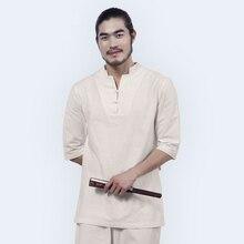 Men Yoga Clothes Sets Cotton Meditation Clothing Shirt and Pants 2pcs/set Chinese Dress