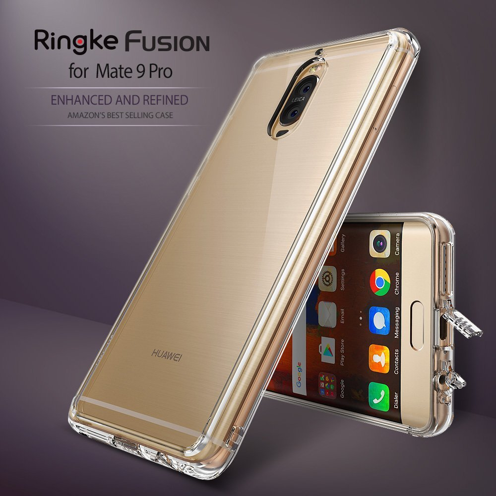 """imágenes para 5.5 """"Ringke Fusión Huawei Mate 9 Pro Caso TPU Edge Claro de Nuevo Panel y MIL-STD Gota Protección Del Teléfono Casos para Huawei Mate 9 Pro"""