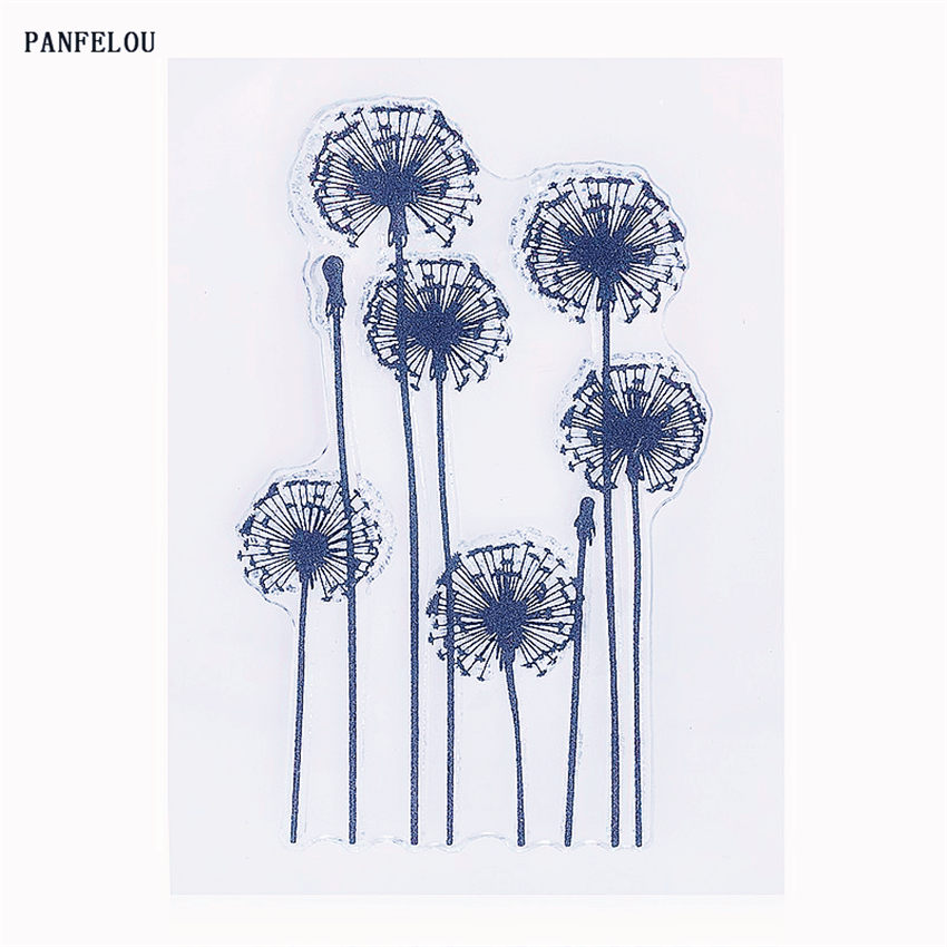 PANFELOU The dandelion Transparent Silicone Rubber Clear Stamps cartoon for ScrapbookingDIY Christmas wedding album