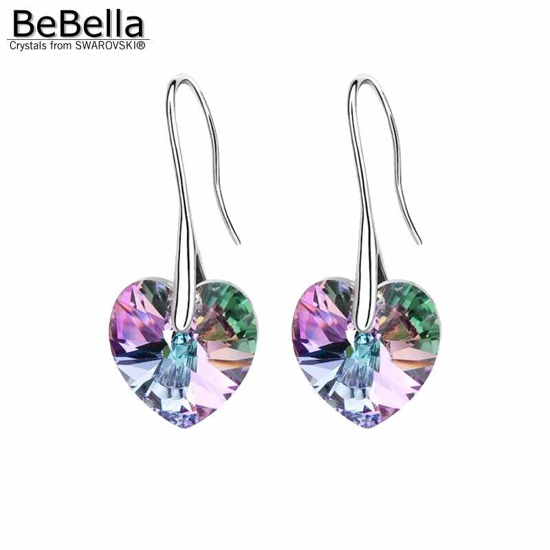 77d6fb6fb Detail Feedback Questions about BeBella crystal heart drop earrings pendant  eardrop with Crystals from Swarovski crystal fashion jewelry for women  girls ...