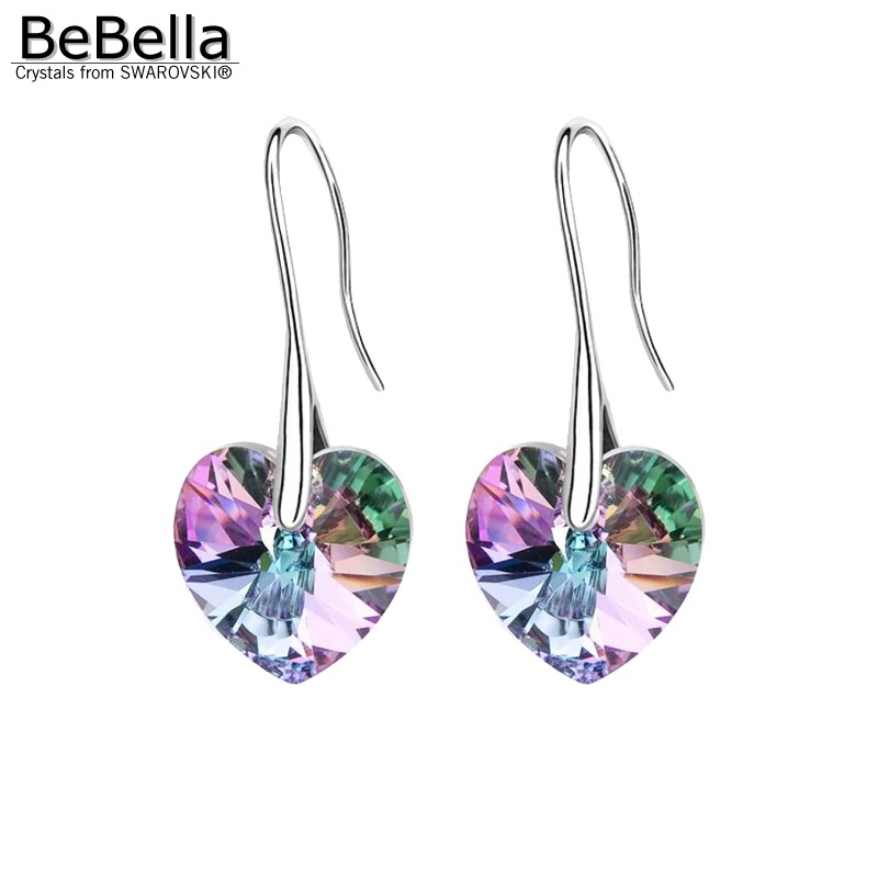 Us 4 37 15 Off Bebella Crystal Heart Drop Earrings Pendant Eardrop With Crystals From Swarovski Fashion Jewelry For Women S 2018 In