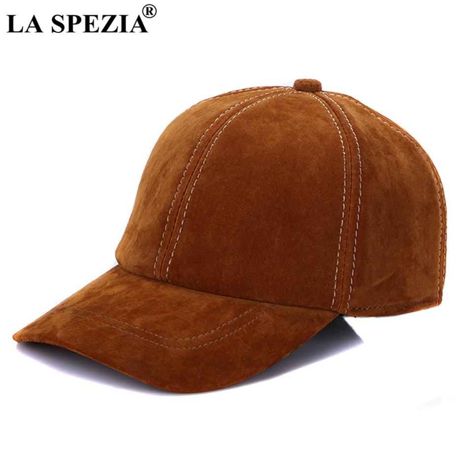 100/% REAL GENUINE Lambskin Suede Leather Baseball Cap Hat Biker Trucker 2 Colors