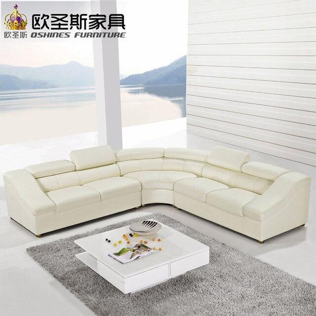 Semicírculo media luna sofá de cuero, muebles modernos, sofá NUEVO ...