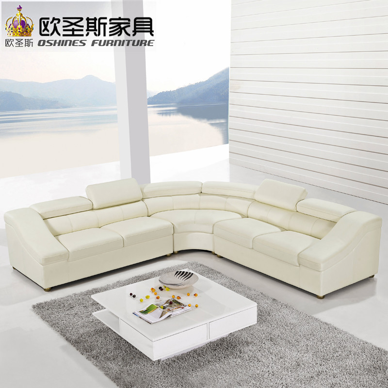 Semi Circle Half Moon Leather Sofa Set Modern Furniture