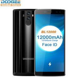 Оригинал DOOGEE BL12000 mtk6750t Octa Core 6.0 ''18: 9 FHD + 12000 мАч 4 ГБ Оперативная память 32 ГБ Встроенная память Quad Камера 16.0mp Android 7.0 смартфон