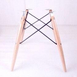 Silla con patas de madera de haya