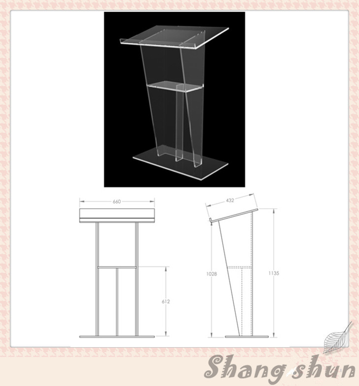 Clear Acrylic Church Pulpit Acrylic Pulpit Clear Acrylic Church Pulpit Acrylic PMMA Perspex Lectern clear