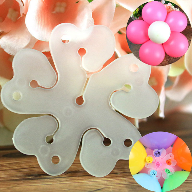 10pcs Flowers Balloons Clips Birthday Decoration Helium Globos Ballon DIY Star Clip Balloon Accessories Party Baloon Supplies