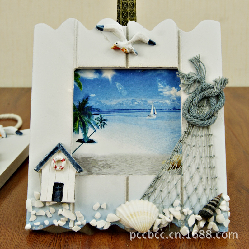 wood craft mini lanyard photo frame with sling home decoration wall wooden photo frame vintage family