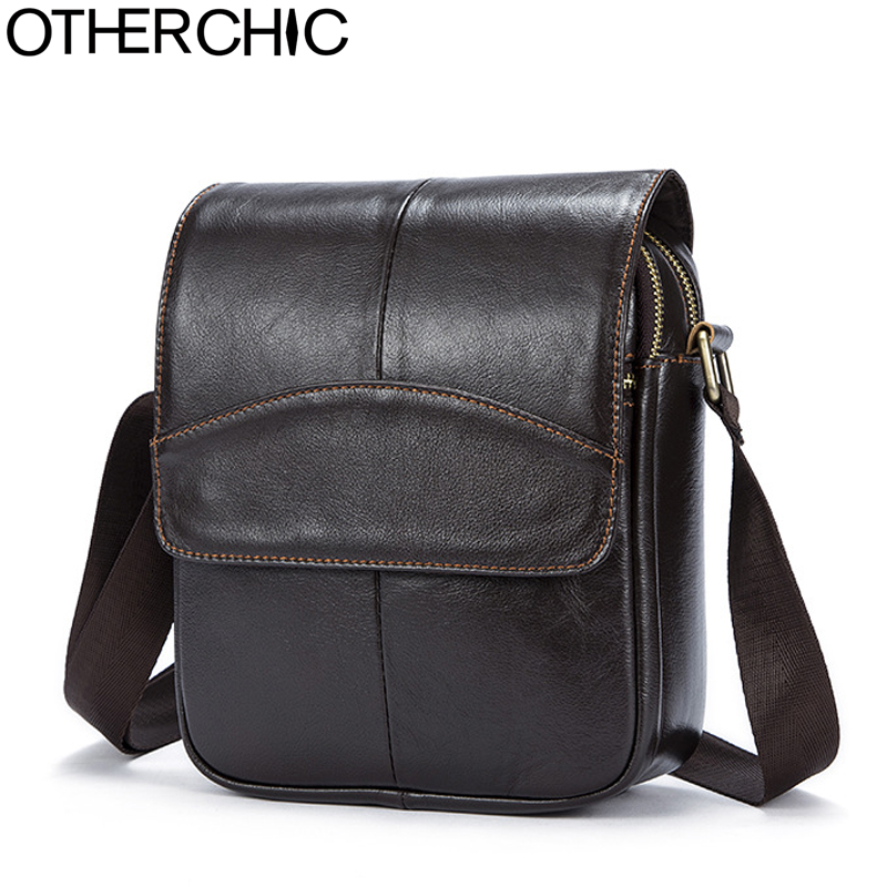 OTHERCHIC Genuine Leather Bags Men Quality Messenger Bags Small Roomy Travel Bag Vintage Crossbody Shoulder Bag For Men 7N04-40 hot 2017 genuine leather bags men high quality messenger bags small travel black crossbody shoulder bag for men li 1611