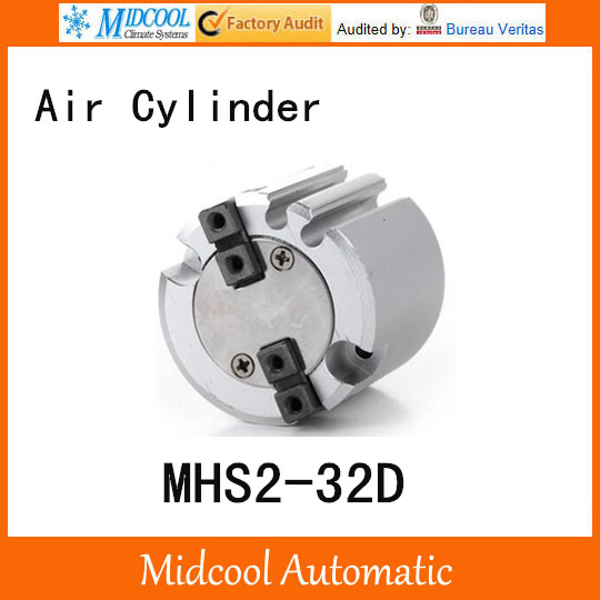 MHS2-32D double acting pneumatic cylinder gripper pivot gas claws parallel air 2-fingers SMC type cylinder high quality double acting pneumatic robot gripper air cylinder mhc2 25d smc type angular style aluminium clamps