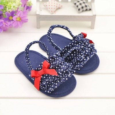 ba20982d663c Hot summer 0 1 year old baby girl toddler shoes baby polka dot bow princess  sandals infant non slip soft soled indoor sandals-in First Walkers from  Mother ...