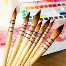 Korea art secret nylon hair watercolor pen tip yellow fat acrylic oil paint painting supplies