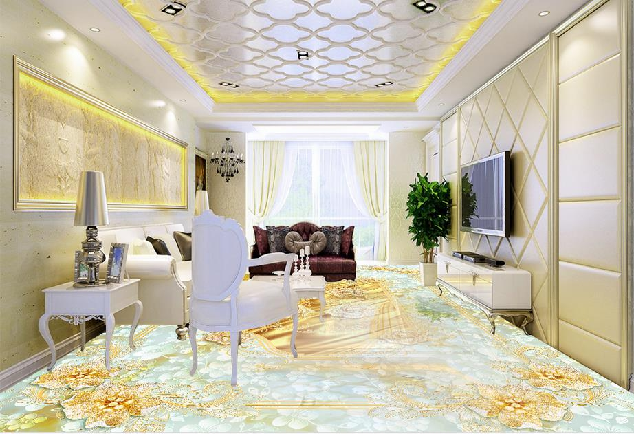 3d flooring custom luxury wallpaper 3d floor Jewelry flower marble 3d photo wallpaper room mural 3d floor wallpaper 3d floor murals custom wallpaper 3d floor photo mural wallpaper flower european marble pattern vinyl flooring living room