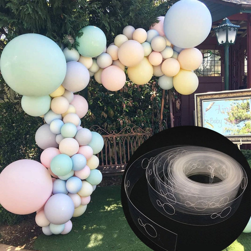 5M/lot Ballons Accessories Balloon Chain 160 Holes Wedding Birthday Balloons Backdrop Decor Seal