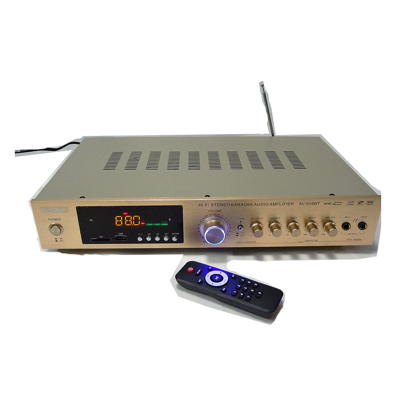 220V AV-608BT HiFi Home amplifier 5.1 home theater karaoke ok amplifier high power radio Bluetooth amplifier диван anderson стоун бел дуб зеленая рогожка