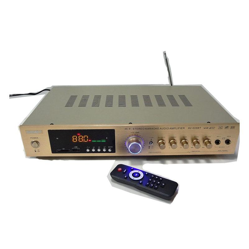 220v av 608bt hifi home amplifier 5 1 home theater karaoke ok amplifier high power radio. Black Bedroom Furniture Sets. Home Design Ideas