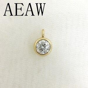 AEAW Real 10 желтое золото, потрясающие 2 карат и 0,4 карат, цветные, лабораторные, ромбовидные подвески и ожерелья для женщин