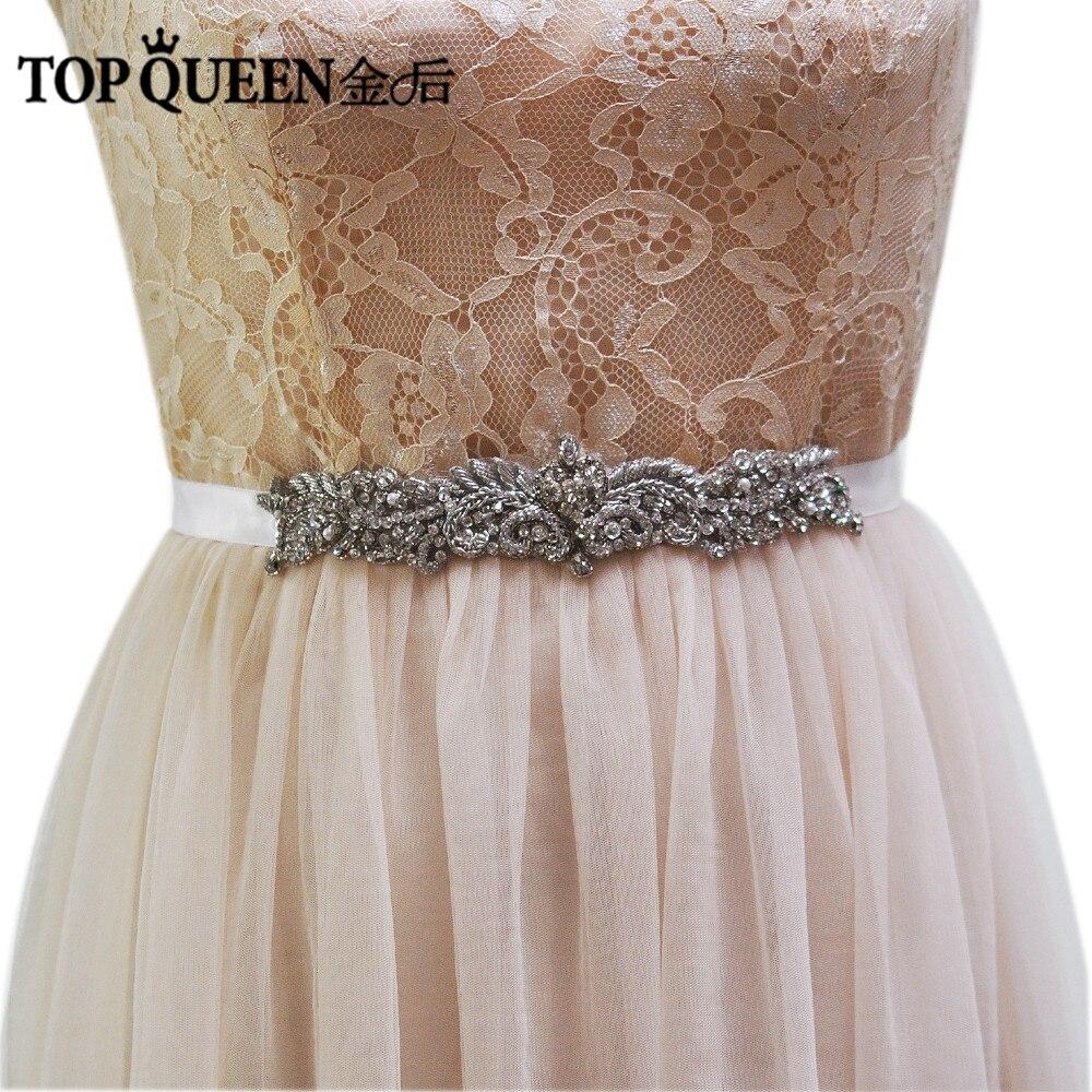TOPQUEEN S375-S Royal Medal Craft Elegant Bridal Belt for Wedding Dress  Handmade Wedding Belt Fast Delivery 0ded24730c00