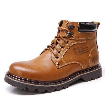 Size 39 44 Mens Fashion Martin Boots Genuine Leather font b Shoes b font font b