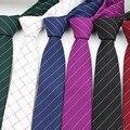Suave de rayas Mens Fashion Cotton Diseñador de Poliéster Corbata Flaca Corbatas lazo de Los Hombres de negocios Pequeños Lazos Corbata
