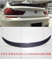 JIOYNG CARRO De fibra de Carbono ASA TRASEIRA TRONCO SPOILER PARA BMW 6 série F06 F12 F13 2012 2013 2014 2015 2016 2017 4 PORTA por EMS|trunk lip spoiler|spoiler for bmw|car rear wing -