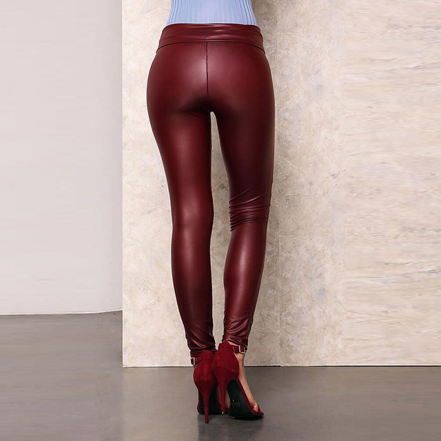 A Forever 2017 Spring Womens LeggingsTrend Fashion Sexy Slim Elasticity Long Pants High Waist  Knee Hole Pencil Pants AFF1046 4