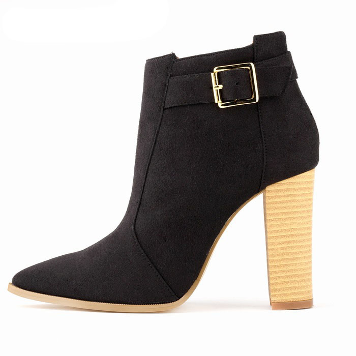 2017 new high-heeled shoes wood heel winter suede fabric thick with club high boots in Europe and the nude dreambox 2017 autumn and winter trends in europe and america woven leather breathable shoes in thick soled sports shoes men