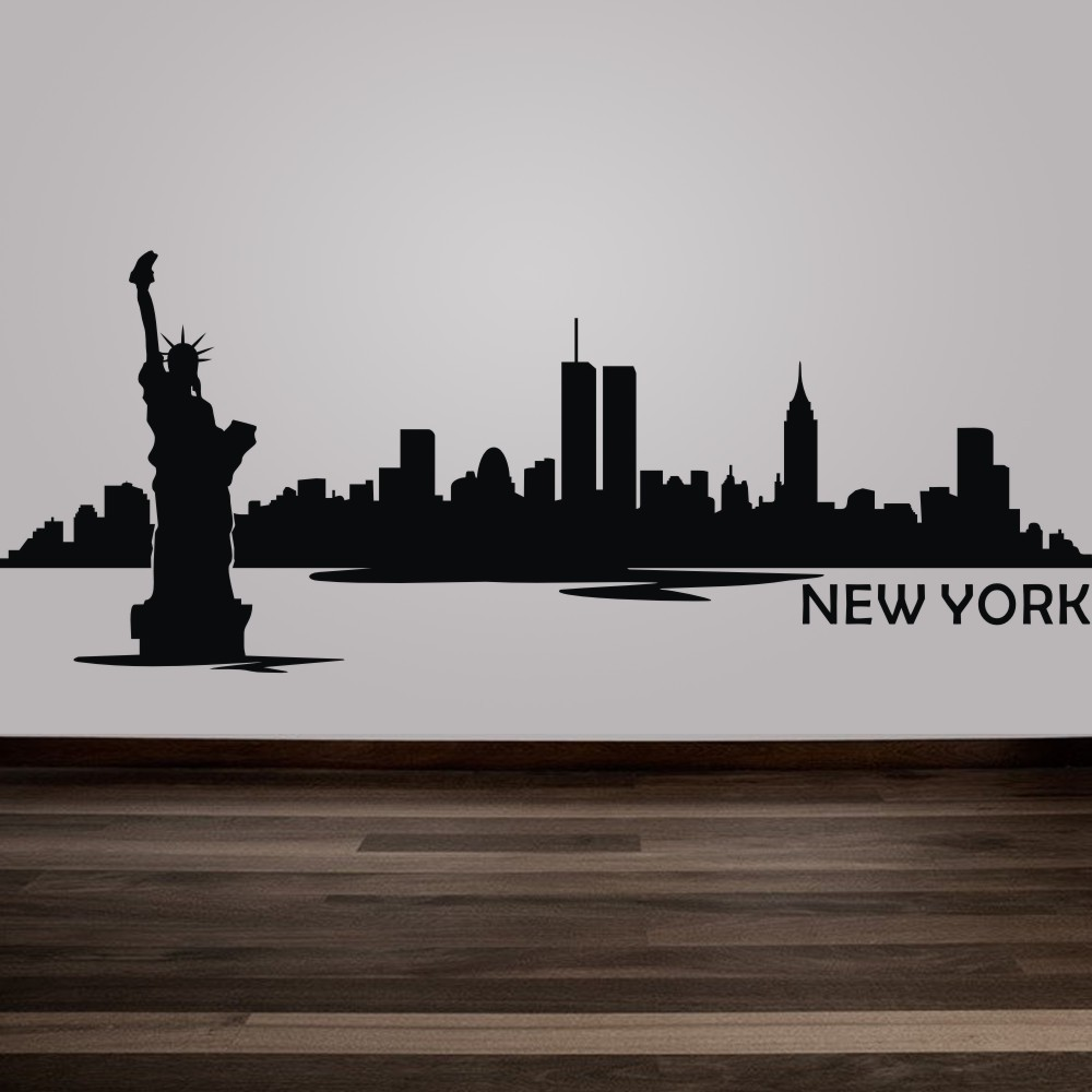 Awesome New York City The Statue Of Liberty Kids Room Wall Stickers Vinyl Art Decal  Playroom Decoration Wall Decor Mural 25 Part 17