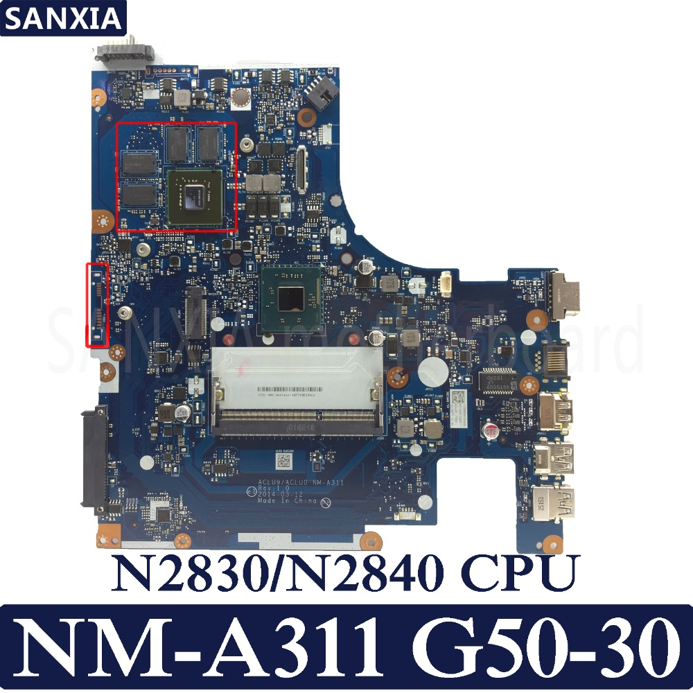 все цены на KEFU ACLU9 / ACLU0 NM-A311 Laptop motherboard for Lenovo G50-30 G50 Test original mainboarrd N2830/N2840 CPU with Video card