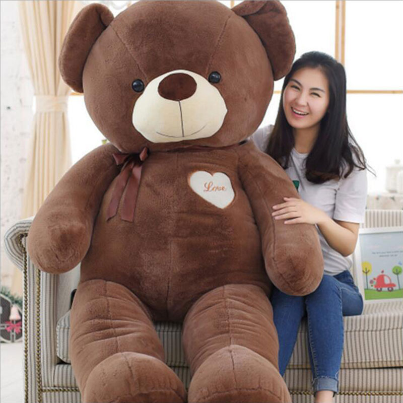 180CM Kawaii Plush Stuffed Large Size Teddy Bear Stuffed Plush Teddy Bear Heart Bear Teddy Bear Doll Plush Toy Party Decoration fancytrader biggest in the world pluch bear toys real jumbo 134 340cm huge giant plush stuffed bear 2 sizes ft90451