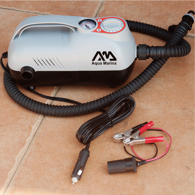 Aqua marina super automatique pompe pompe à air électrique par allume-cigare max pression 20psi pour bateau gonflable planche à pagaie gonflable