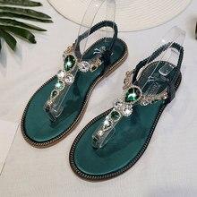 Fashion Flip Flops Women Sandals Bohemia Gladiator Beach Crystal Flat Sandals Leisure Female Ladies Summer Women Shoes DC110
