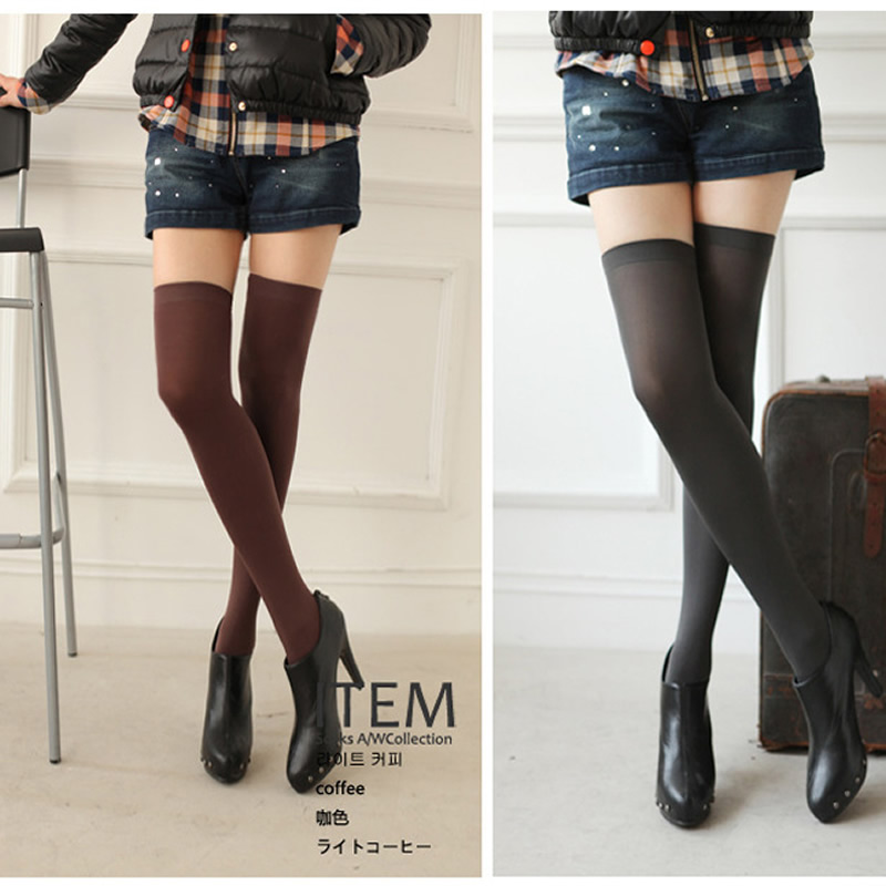 Women Sexy Candy Colors Over The Knee Socks Velvet Solid Slim Thigh High Socks New Fashion Sexy Stockings For Hot Girls