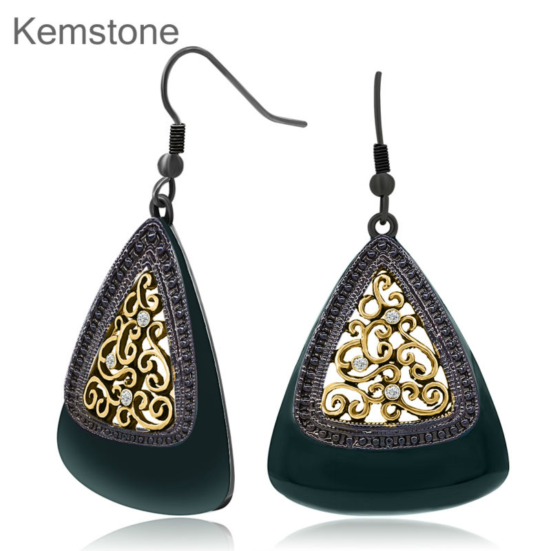 Kemstone Vine Drop Dangle Earrings