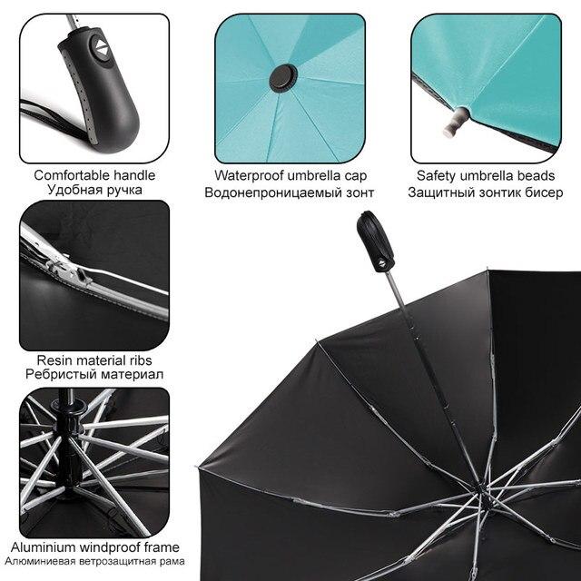 Pieghevole Reverse Ombrello Pioggia Rivestimento occhiali da Sole Degli Uomini Delle Donne Grande Antivento Nero Ombrelli Regali Parasole Automatico di Affari Auto Paraguas 5