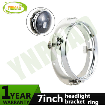 YNROAD 7inch Round Mounting Bracket Ring  headlight Bracket stainless steel for 7 inch Headlight  Harley Davidson Motorcycle