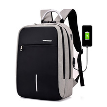 купить 2019 New Men USB Charge Anti Thief Backpack Coded Lock Casual Rucksack Laptop Mochila Travel Schoolbag Bagpack Sac A Dos Mochila по цене 1191.25 рублей