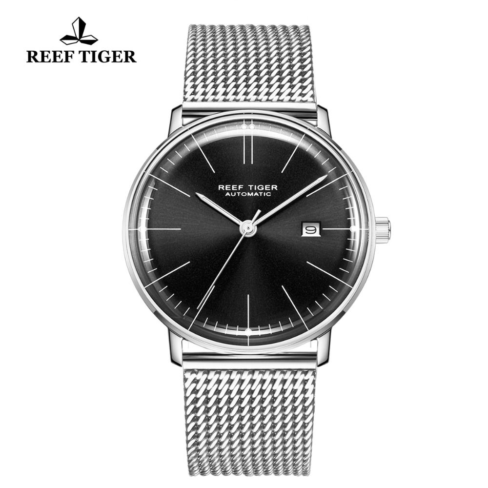 Reef Tiger/RT Top Brand Luxury  Watch for Men Sapphire Crystral Watch Stainless Steel Strap Automatic Mechanical Watches RGA8215Reef Tiger/RT Top Brand Luxury  Watch for Men Sapphire Crystral Watch Stainless Steel Strap Automatic Mechanical Watches RGA8215